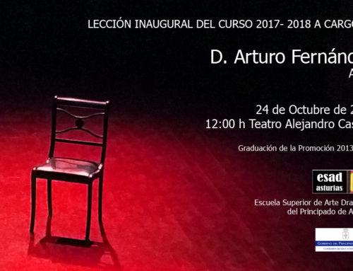 Lección inaugural del curso 2017-2018 a cargo de Arturo Fernández