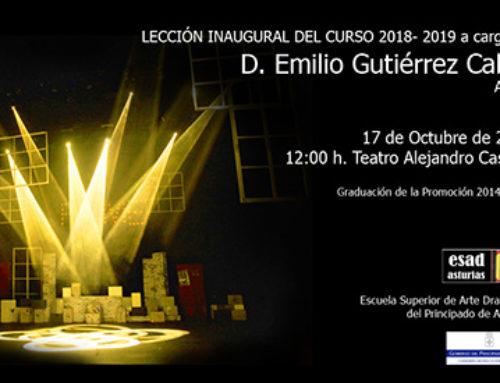 Lección inagural curso 2018-2019 D. Emilio Gutiérrez Caba