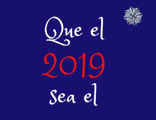 Que el 2019 sea el escenario de tus mejores deseos.
